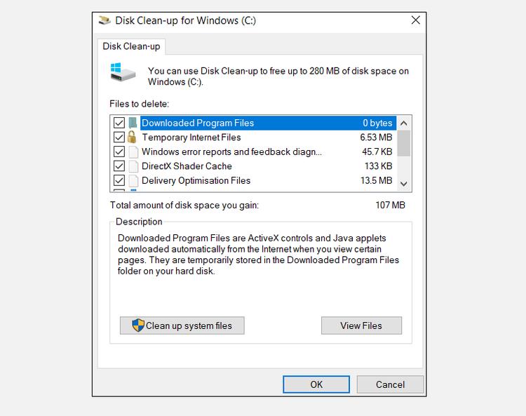 очистка свободного места на диске Windows
